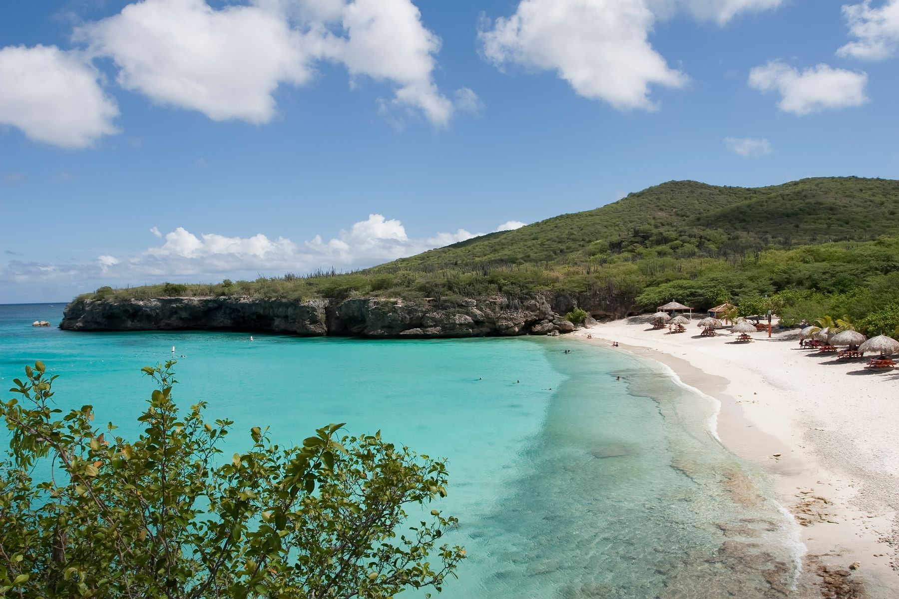 clear water and strand of beach