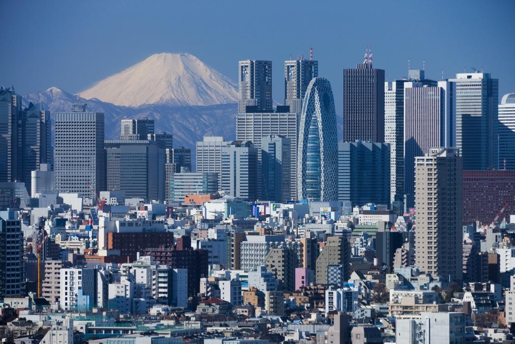 Το Τόκυο από ψηλά και το όρος Φούτζι στο βάθος