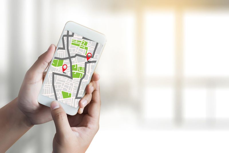 スマートフォン 地図アプリ