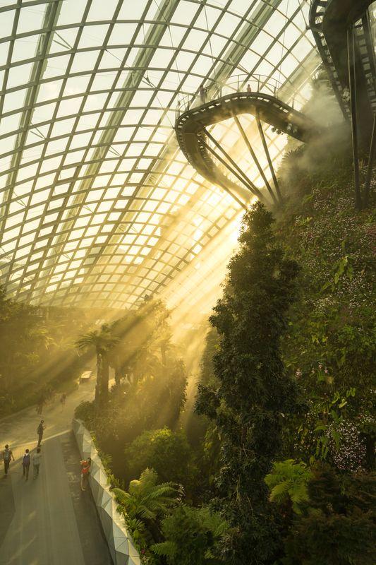 Θερμοκήπιο στο Gardens by the Bay, ένα απ' τα ωραιότερα αξιοθέατα που θα δείτε σ' ένα ταξίδι στη Σιγκαπούρη