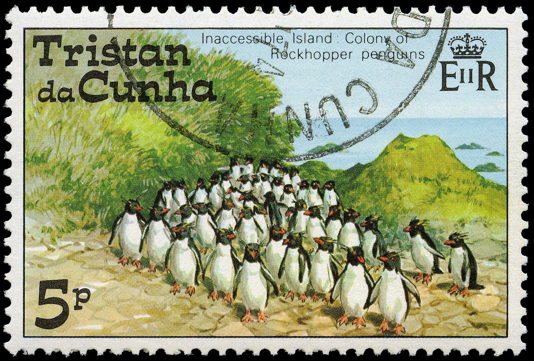 Почтовая марка острова Тристан-да-Кунья