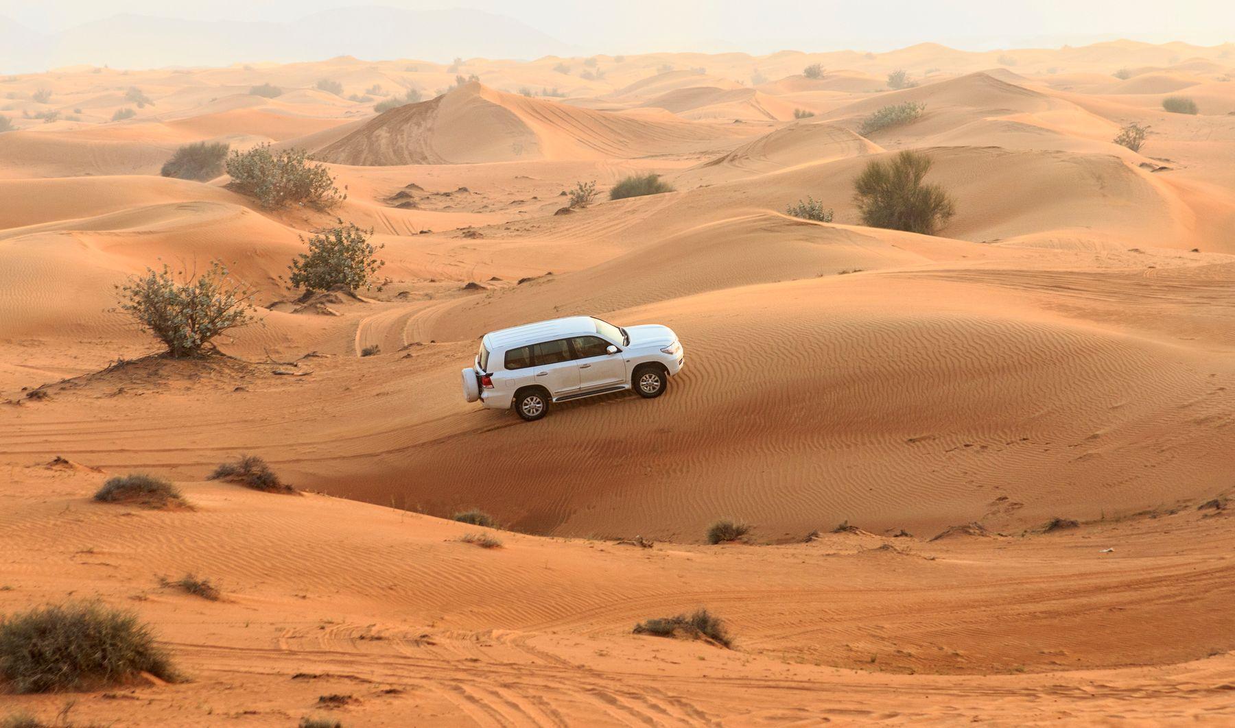 Dune bashing is a great adventure holiday abroad, and inolves driving through the desert