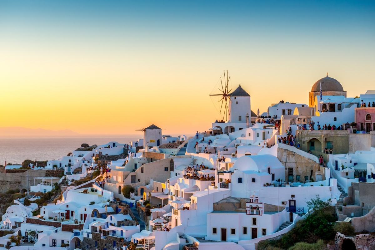 Wyspy greckie: Santoryn