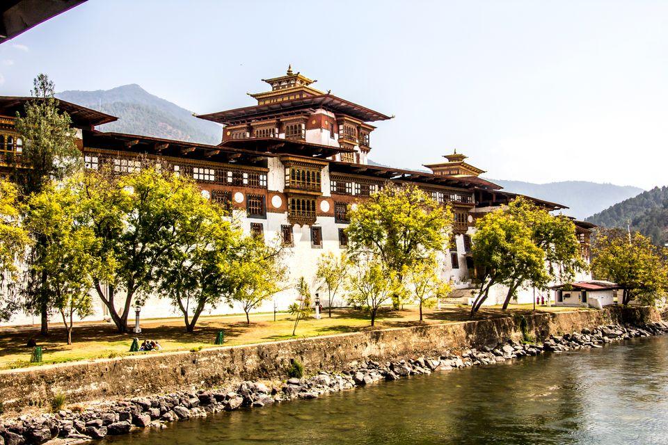 Sehenswürdigkeiten Bhutan: Kloster Punakha Dzong, Punakha