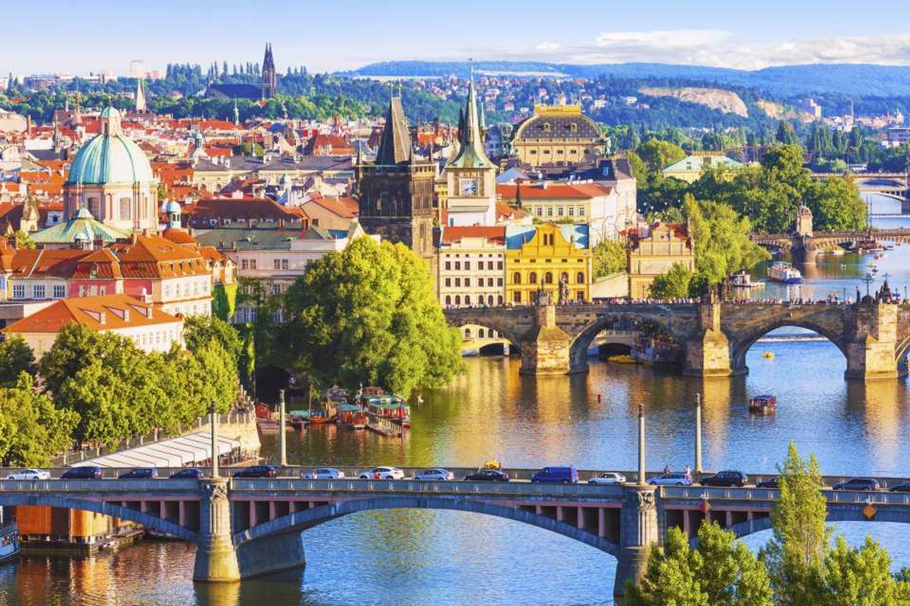 Bruggen over de Moldau in Praag