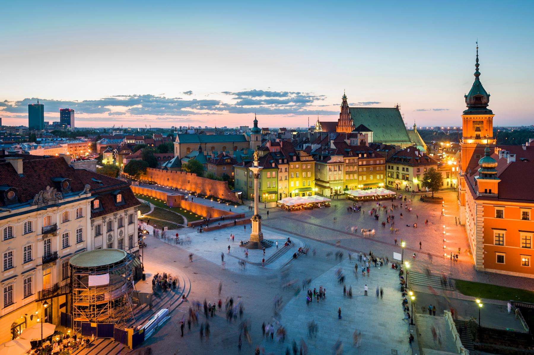 Jesień w Polsce w miejskim stylu
