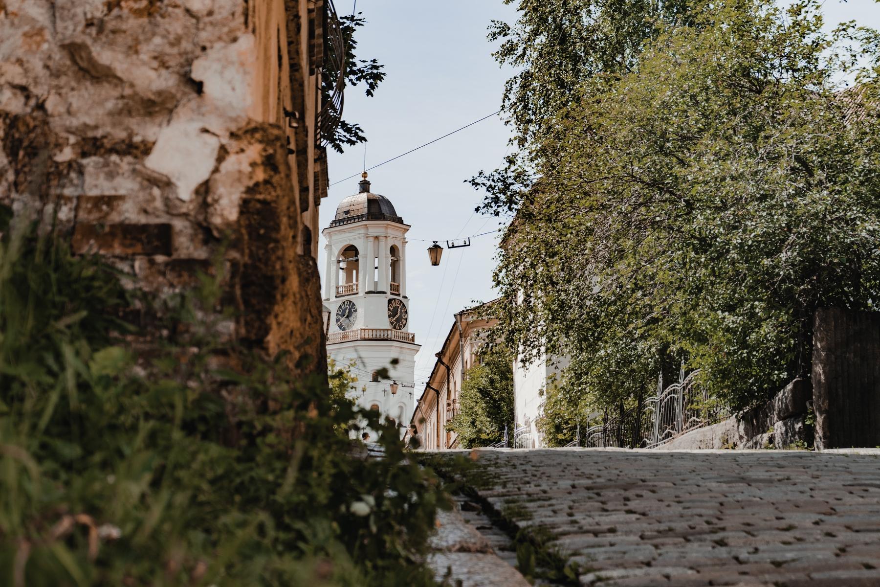 Старинная улочка в Выборге, Ленинградская область