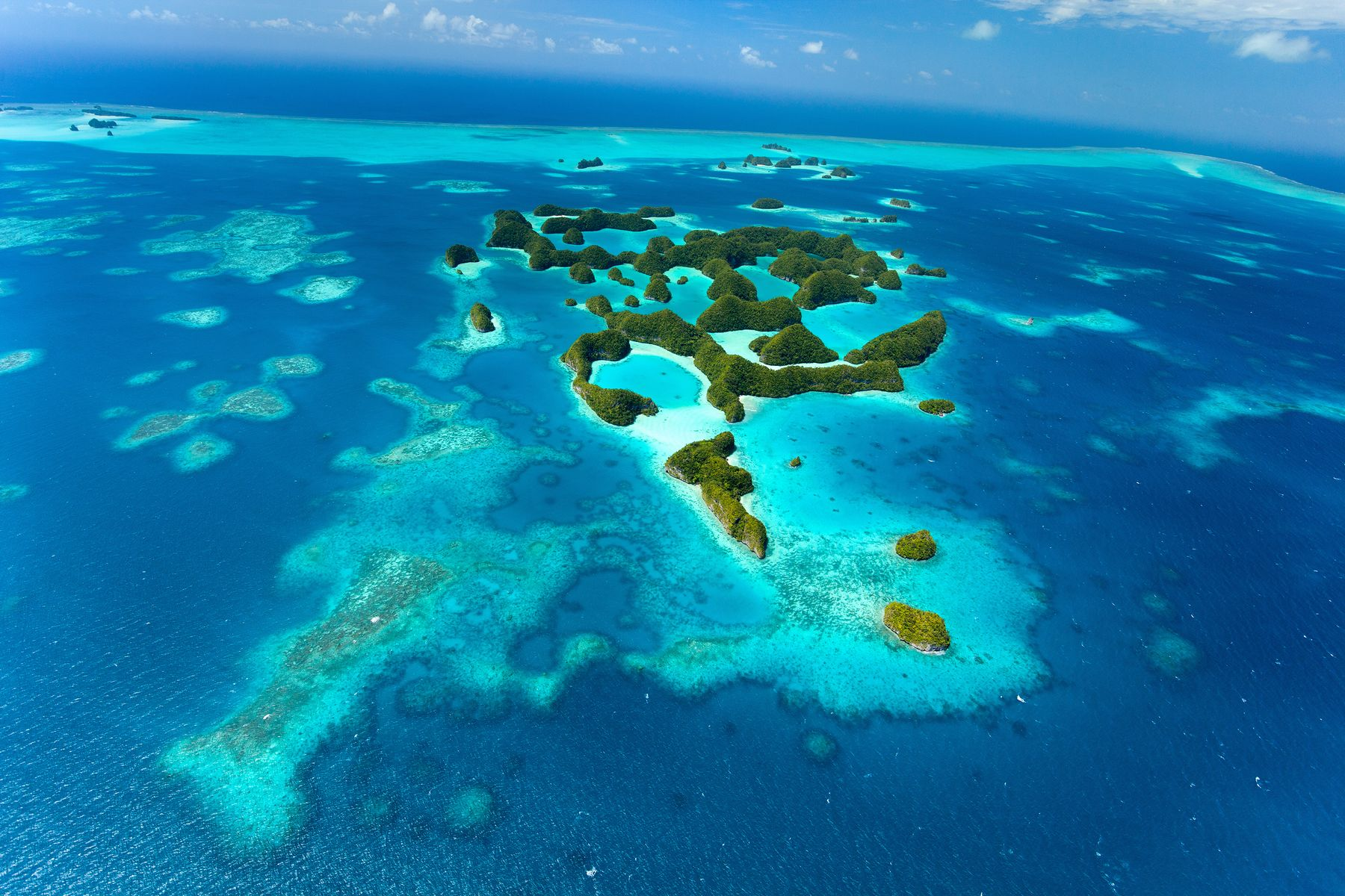 aerial view of the islands of palau, an unexpected travel destination
