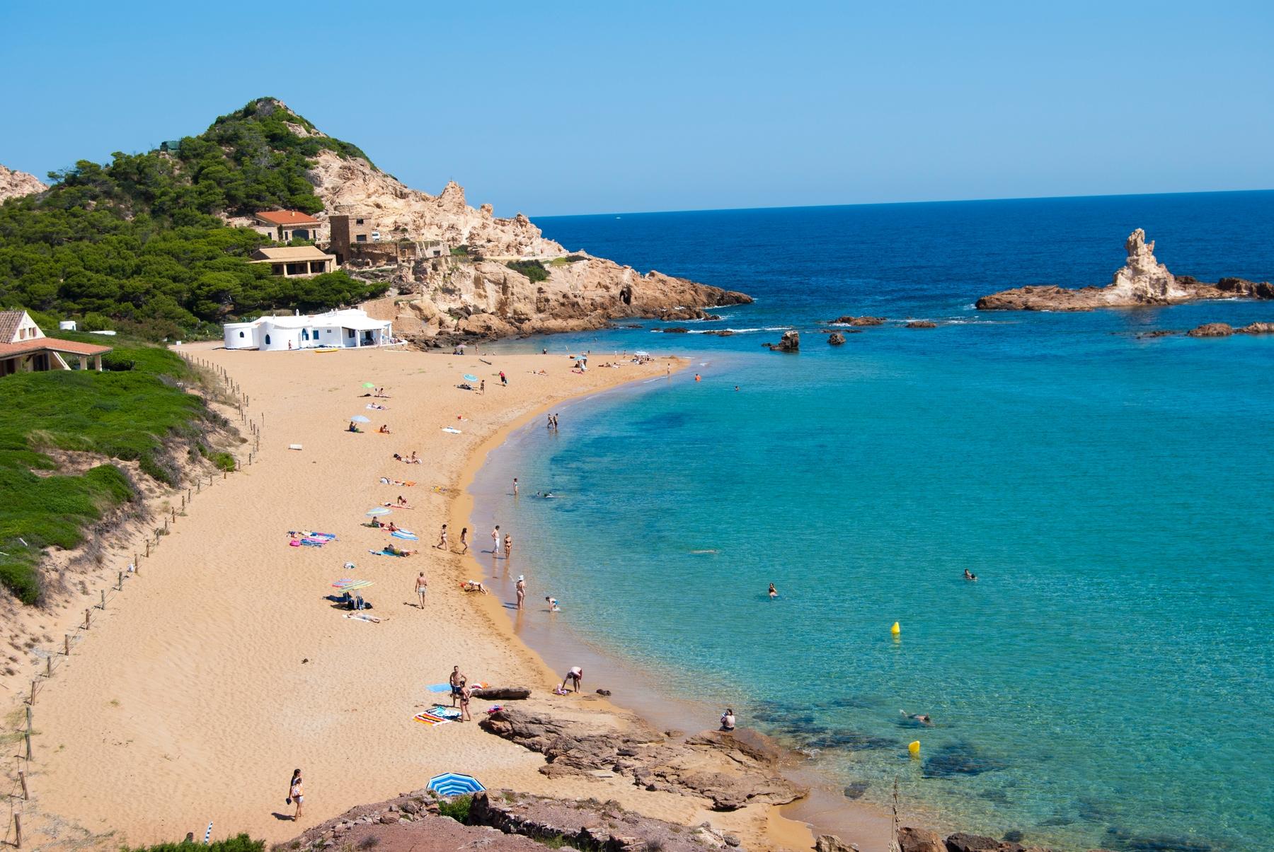 Sandy beach in Menorca
