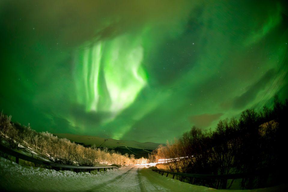 Το Βόρειο Σέλας στο Αμπίσκο της Σουηδίας