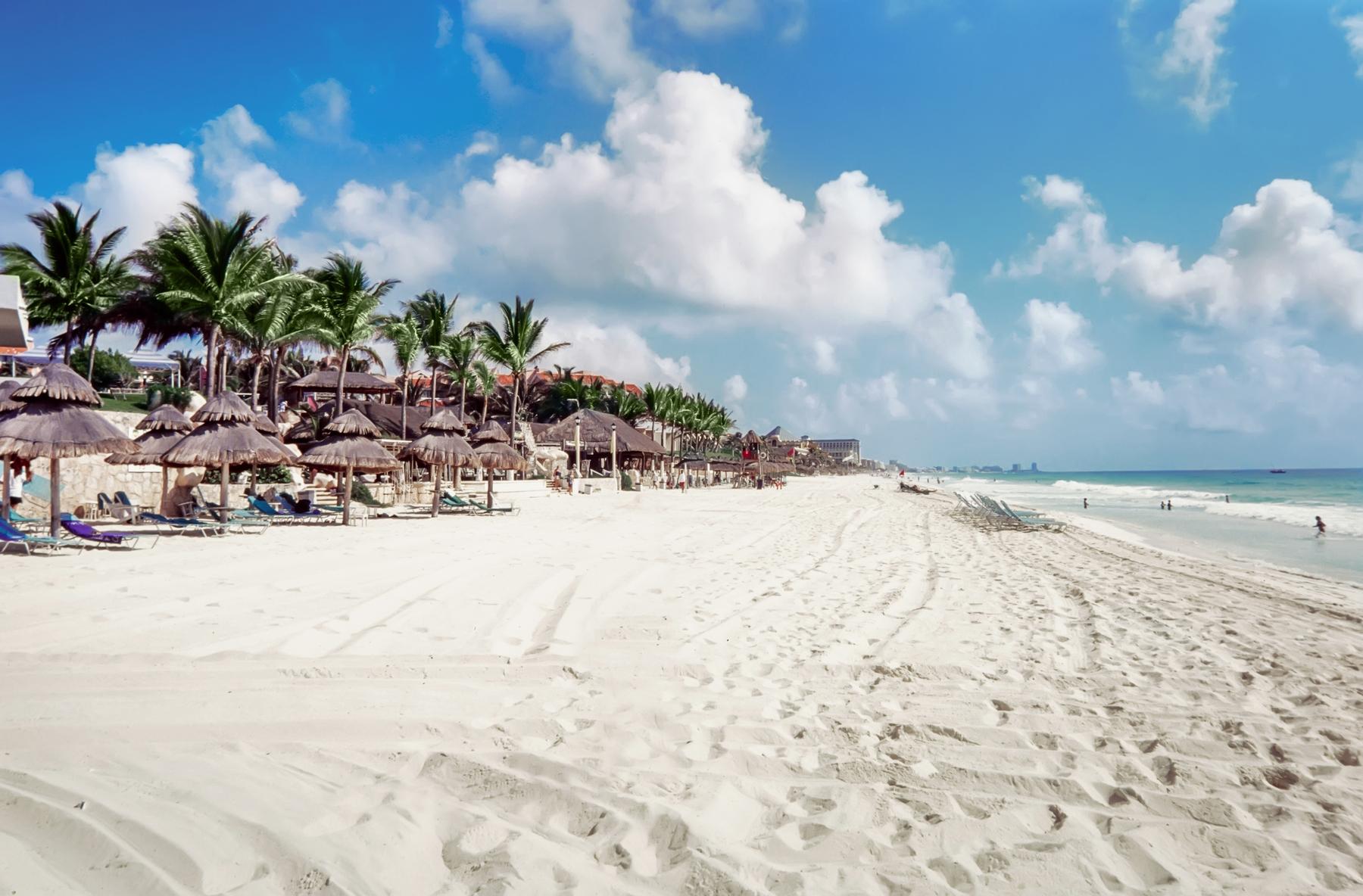 Enjoy sandy beaches near Cancun, Mexico--a lovely destination if you're still deciding where to go for Memorial Day weekend.