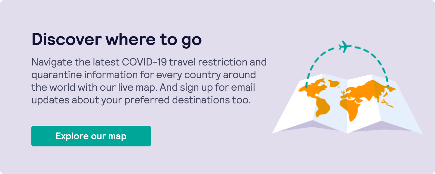 Discover where to stay with your Black Friday airline deals by using Skyscanner's travel restrictions map