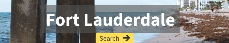 cheap flight search to Fort Lauderdale with image of beach and pier in the background