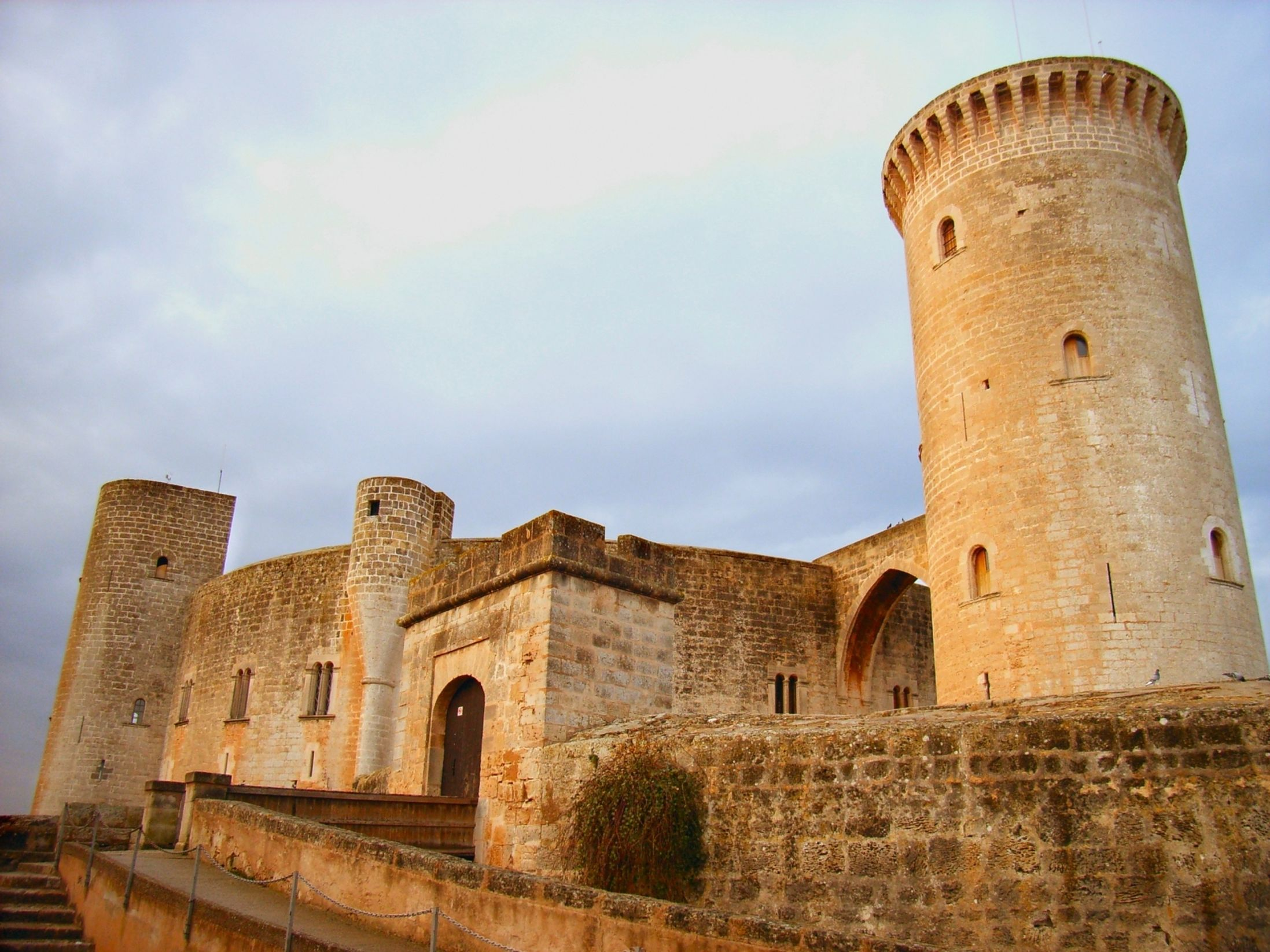 Castell de Bellver sits pretty atop a hill on the outskirts of Mallorca's premier destination, Palma