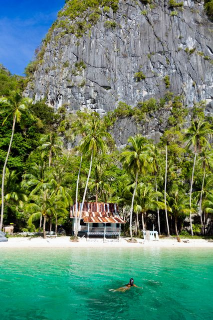 The tropical Palawan in the Philippines