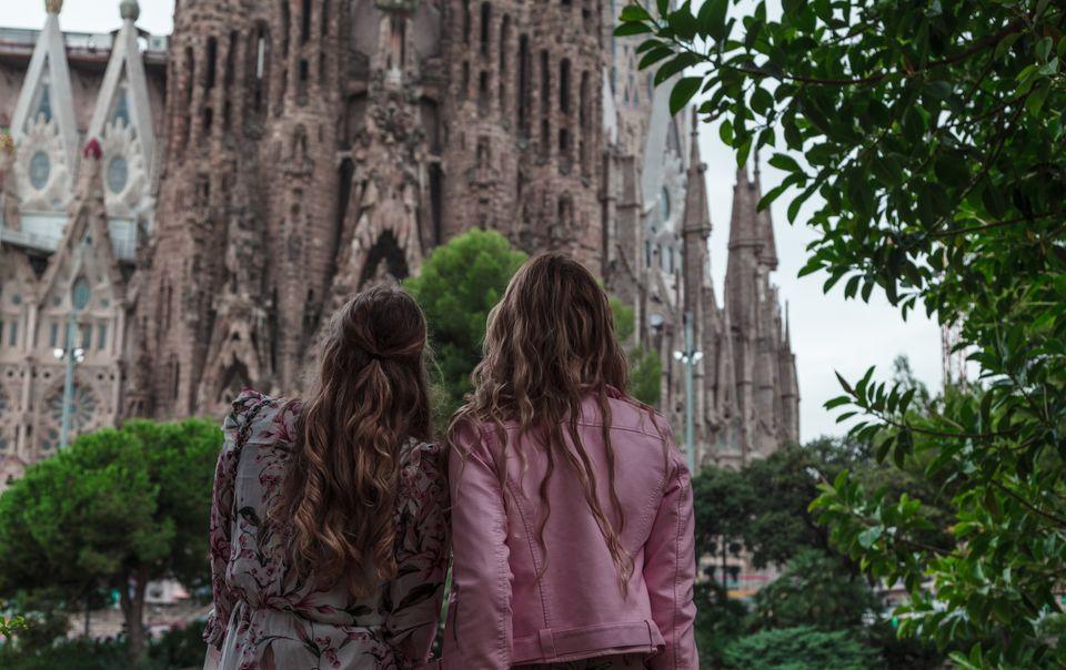 Visiting the Sagrada Familia in Barcelona, Spain
