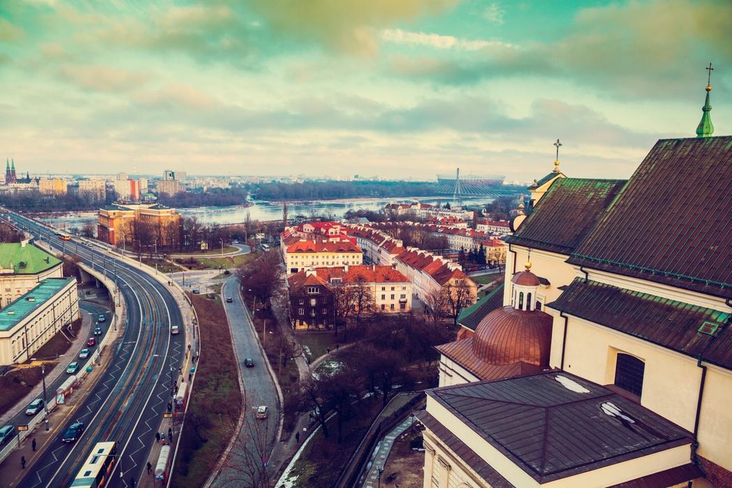 Η Βαρσοβία τον χειμώνα