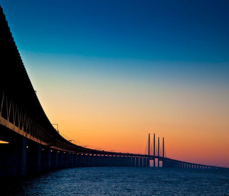 Ηη γέφυρα Øresund που ενώνει Μάλμε και Κοπεγχάγη