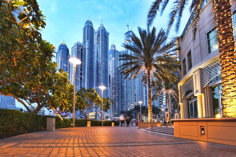 Dubai Marina is very close to The Holiday Inn Express Internet City