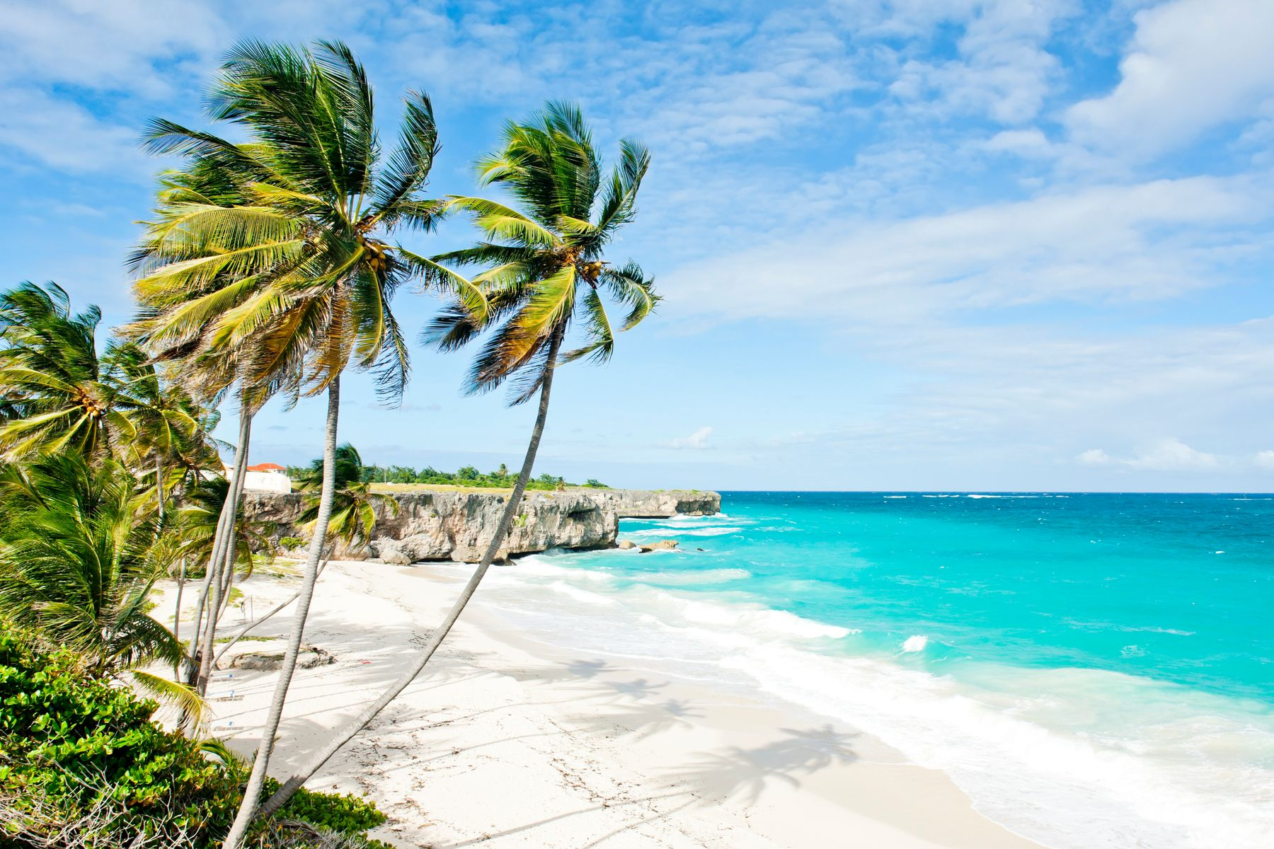 beach in barbados, one of the best places to travel in February