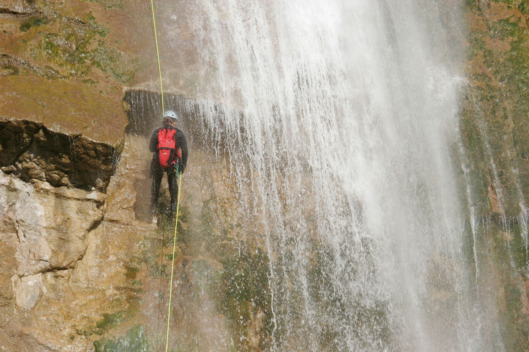 Canyoning involves climbing up steep gorges and waterfalls