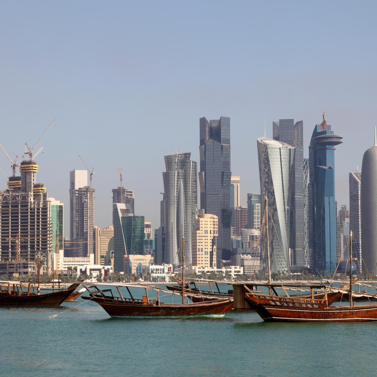 Dhau-Rundfahrt zum Sonnenuntergang in Corniche, Doha, Qatar