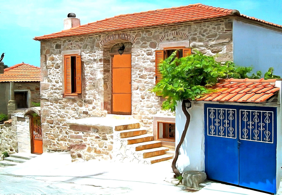 Παραδοσιακό σπίτι στη Μυτιλήνη