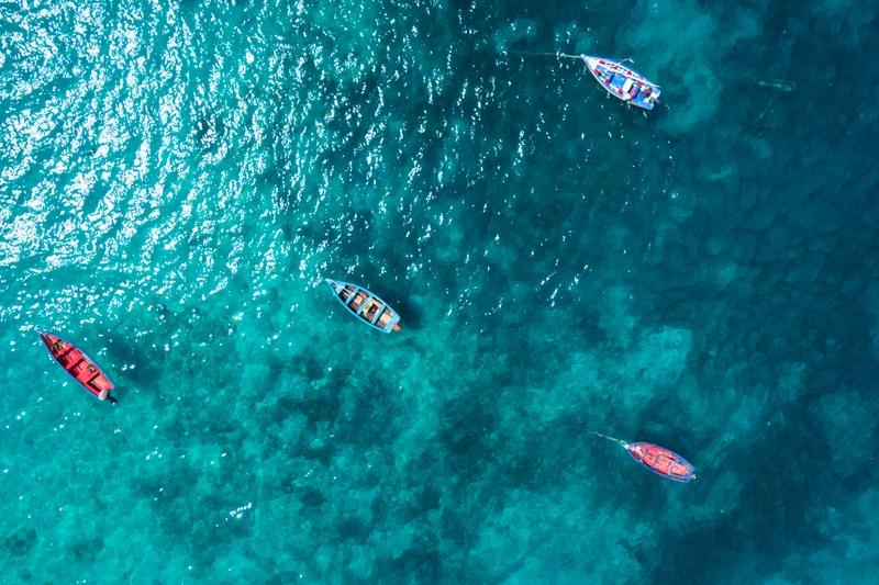 Boats in the sea, Cape Verde