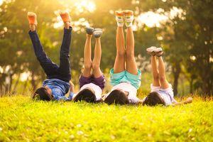 Kids enjoying the sunshine