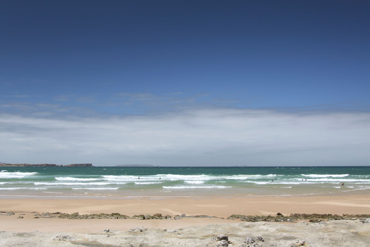 The golden sands of Peniche beach, Portugal