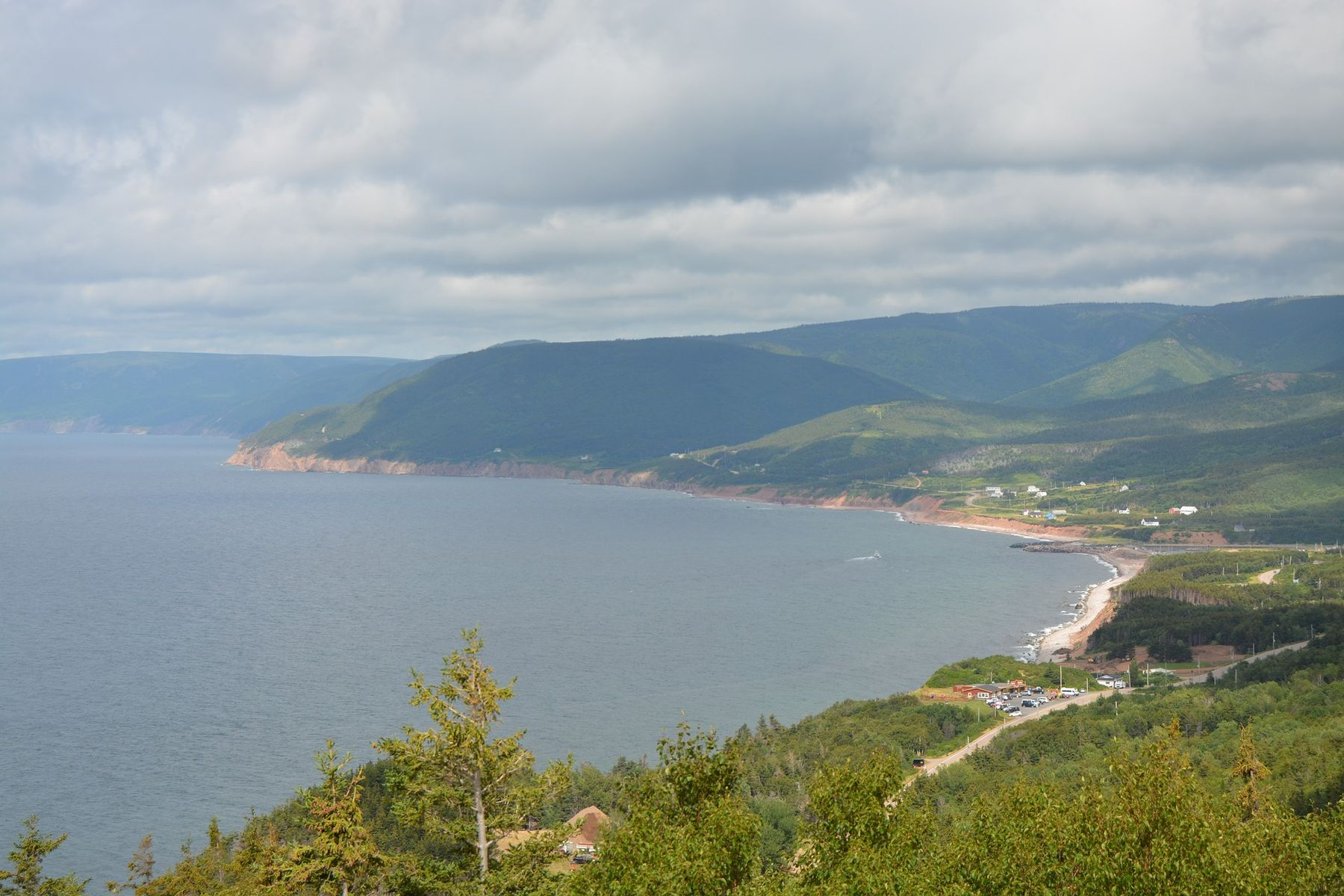 scene at the Cabot Trail in Nova Scotia, a great place for a bike trip