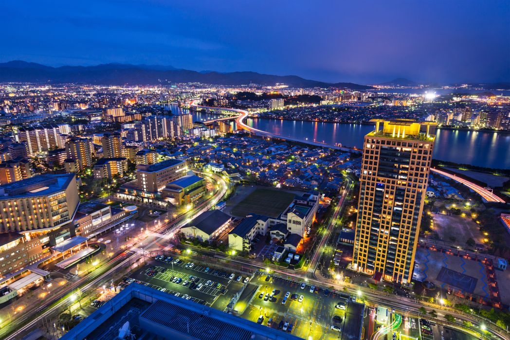 Το Τόκιο από ψηλά, φωτισμένο τη νύχτα