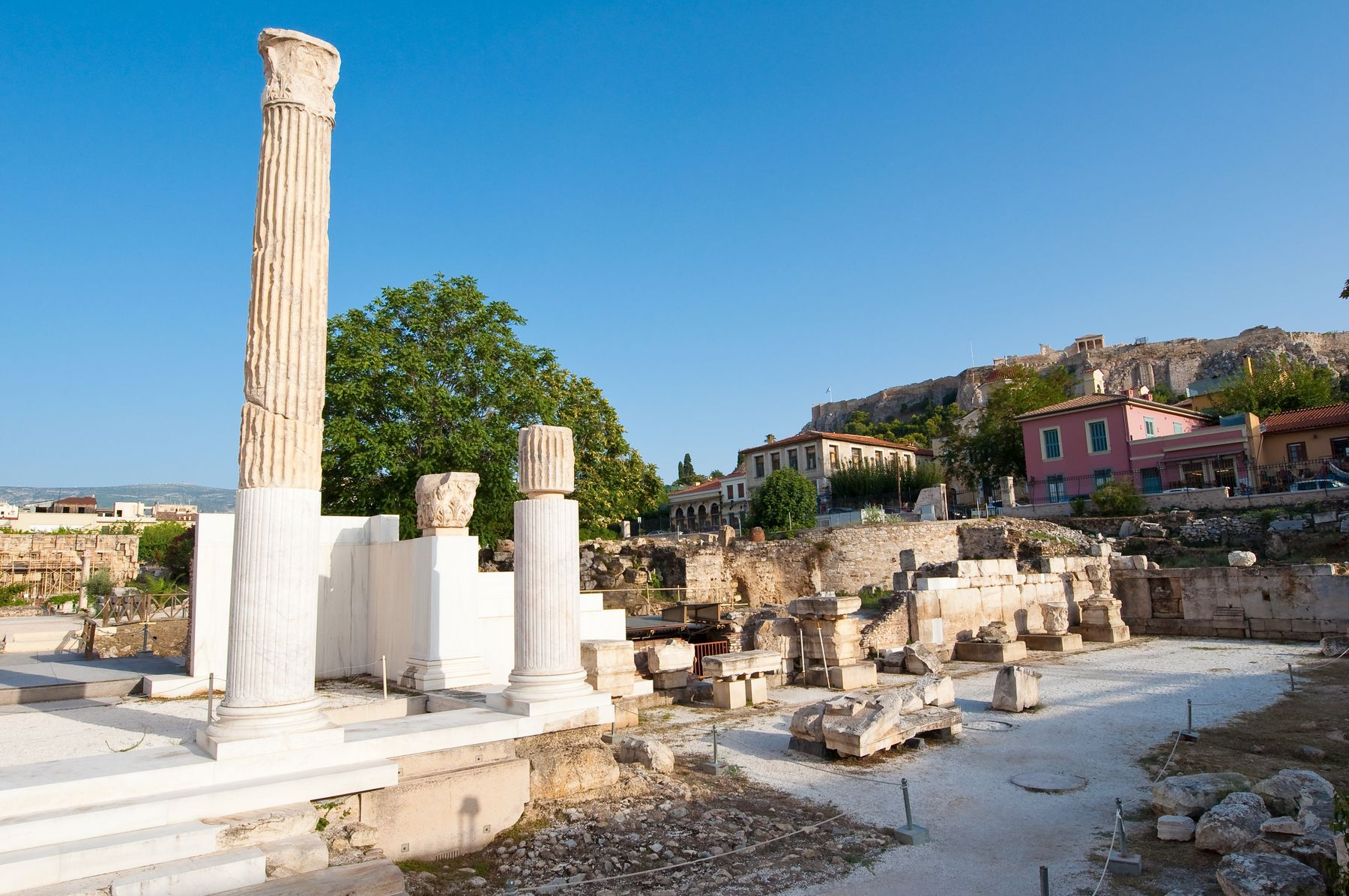 Greece is open so you can visit outdoor museums like these ancient ruins in Athens, as well as indoor venues.