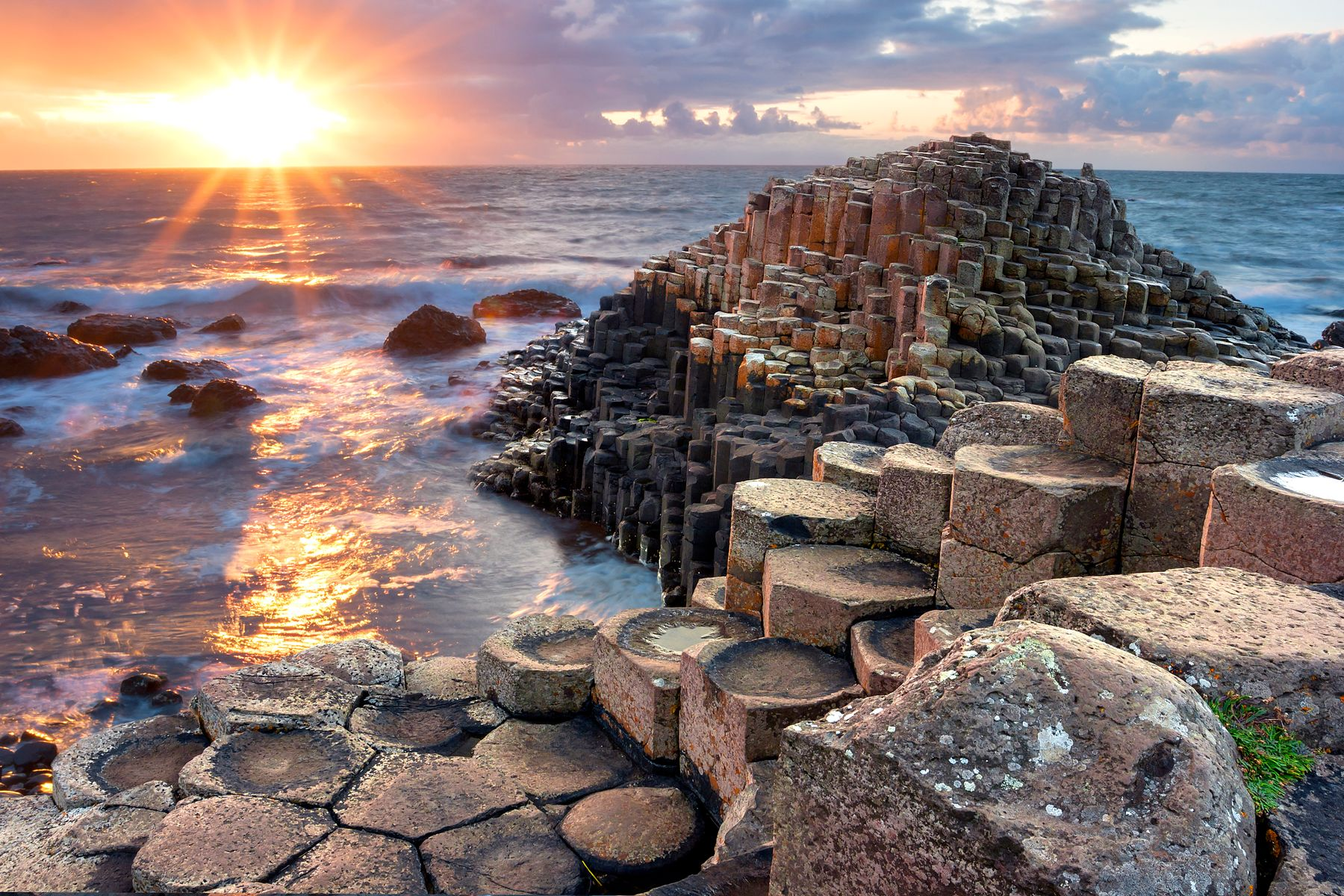 Giant's Causeway is impressive enough in the daytime, but after the sun sets it's one of the best places to see the Northern Lights in the UK