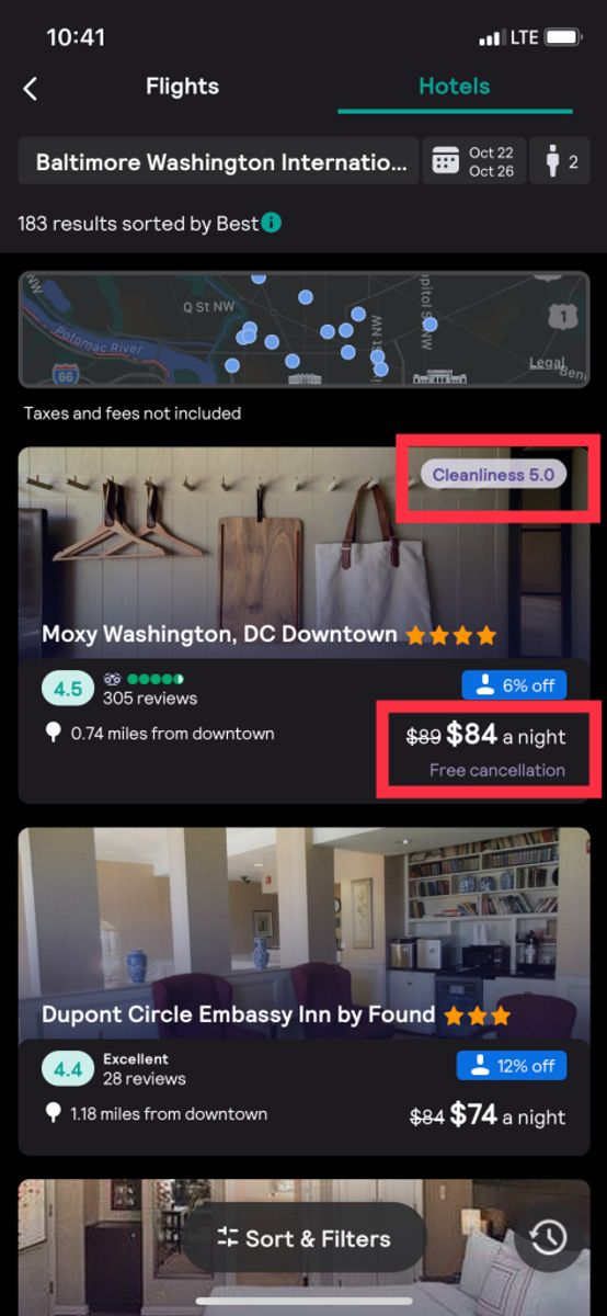How-to image on booking Cyber Monday Hotel Deals on Skyscanner's app