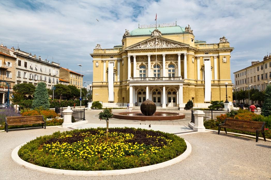 To Eθνικό Θέατρο της Κροατίας στη Ριέκα
