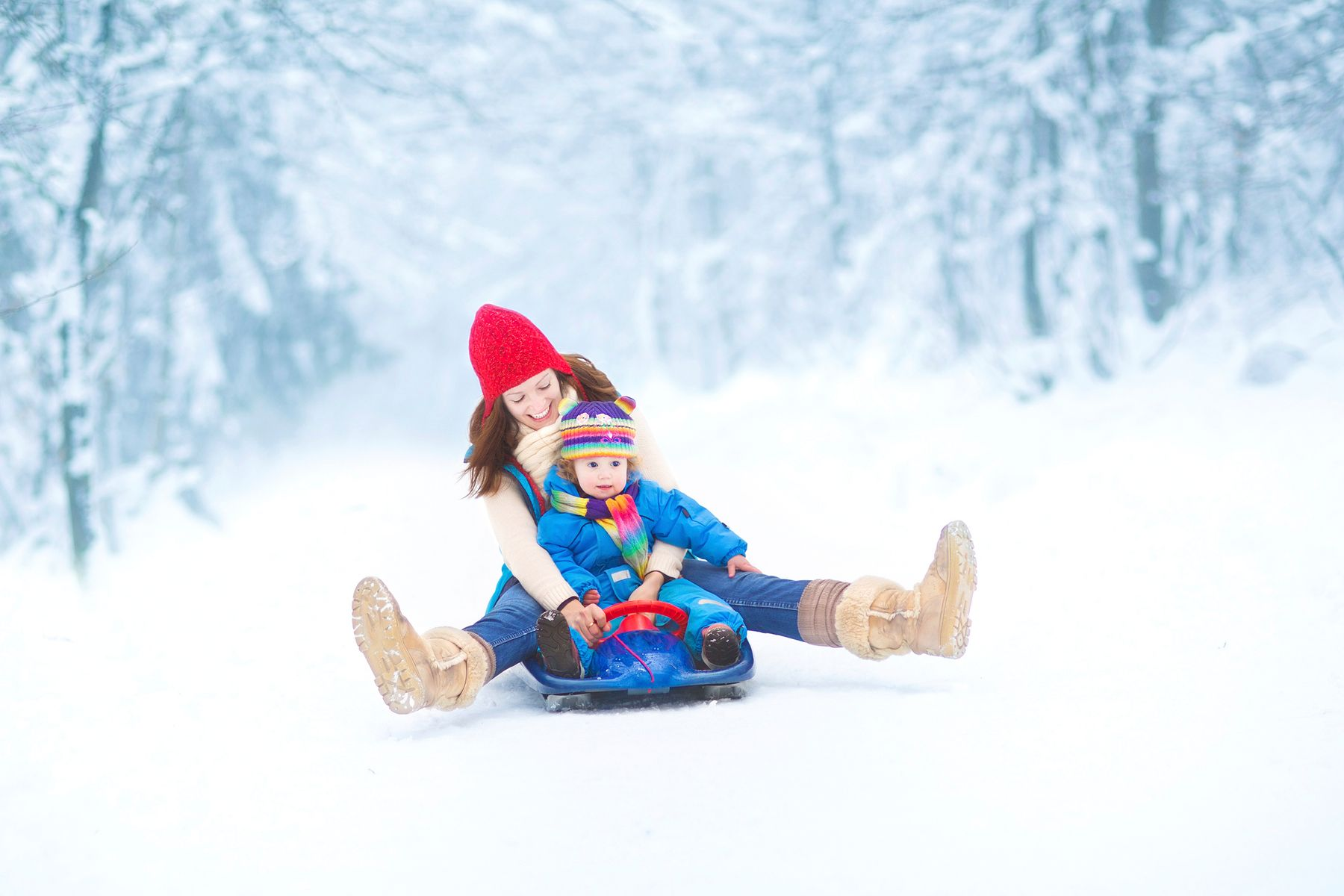 tobogganing in toronto in winter