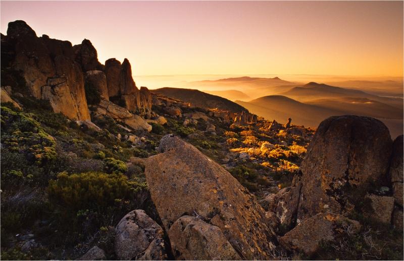 Mount Wellington's summit