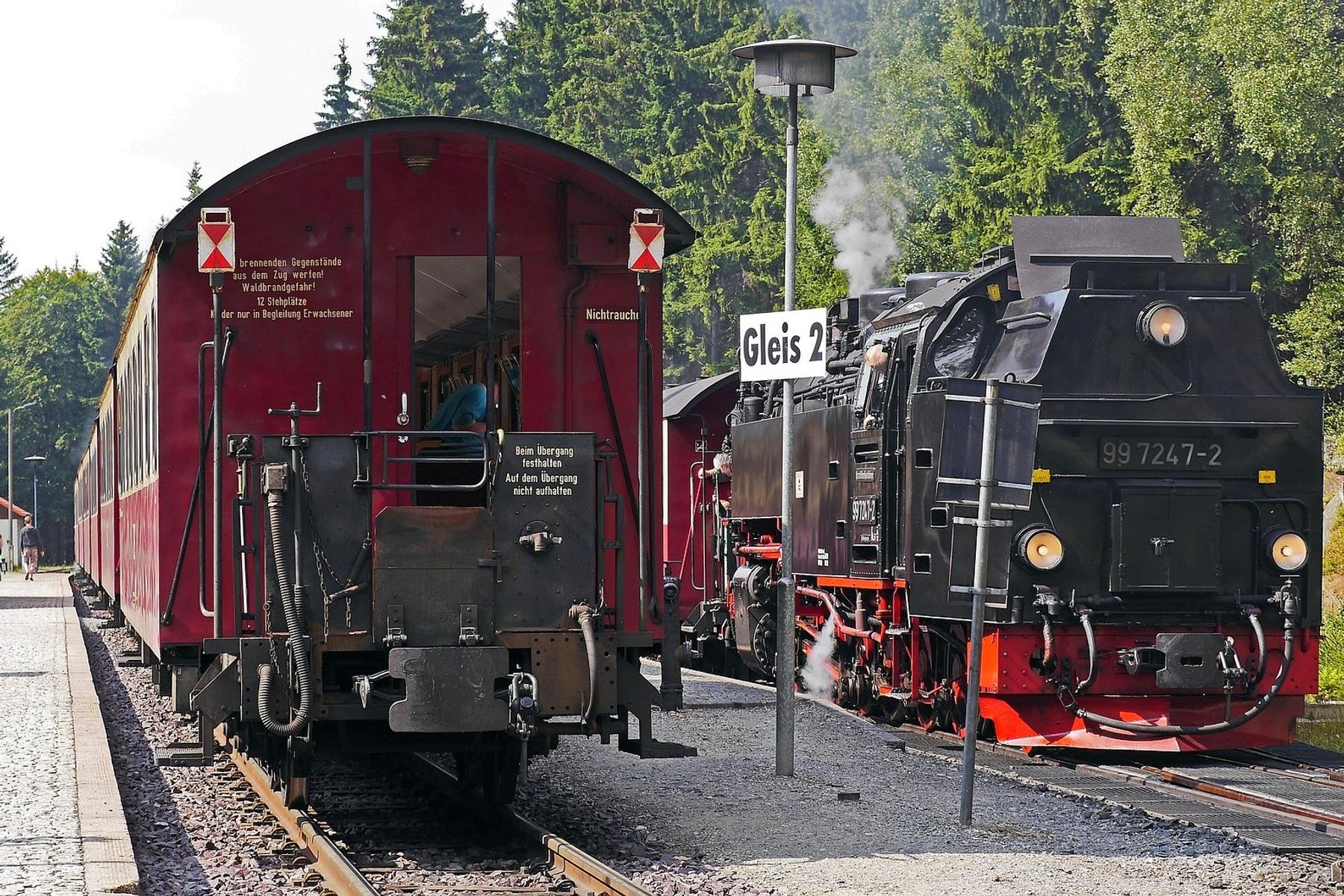 Treinen Schierke in Saksen-Anhalt Duitsland