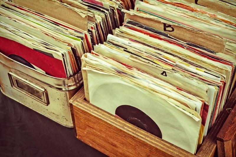 records in a box