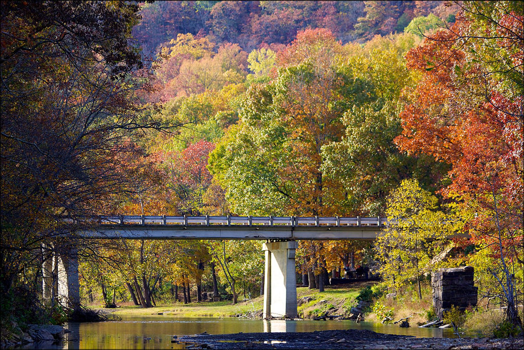 The Ozarks fall colors in October