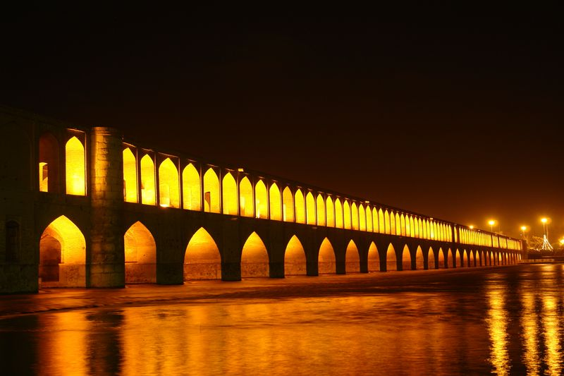 İran İsfahan Zayende Nehri