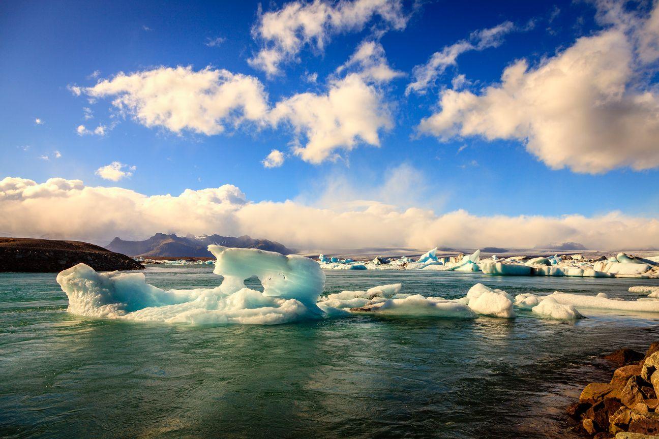 The glacier lagoon Jökulsárlón, Iceland is a great family destination for 2019