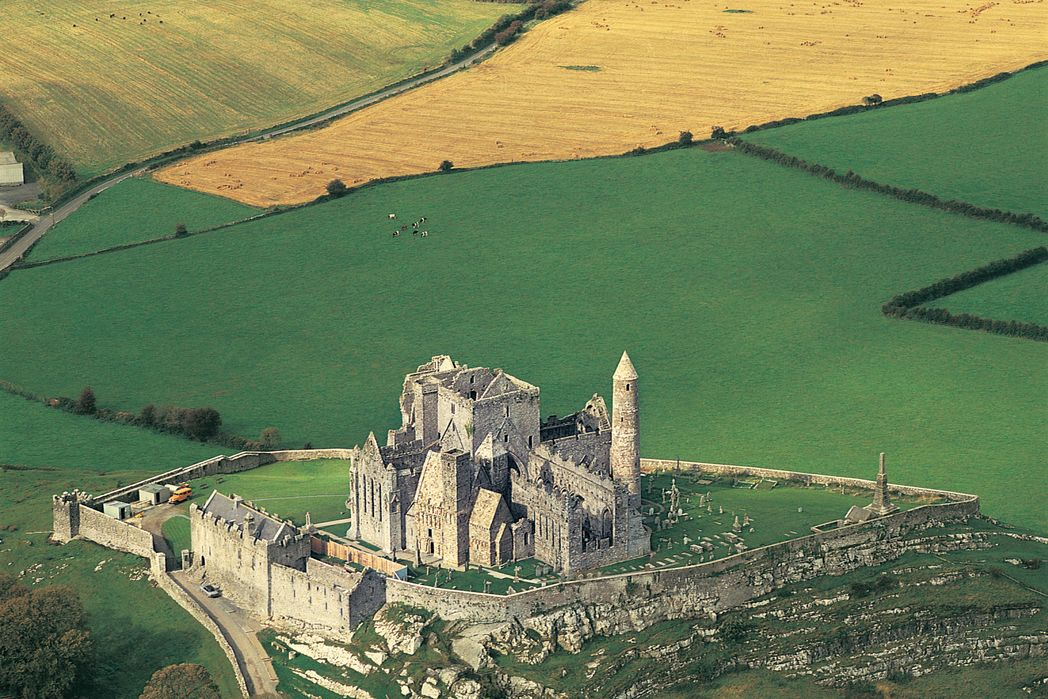 Aerial view of Rock of Cashel