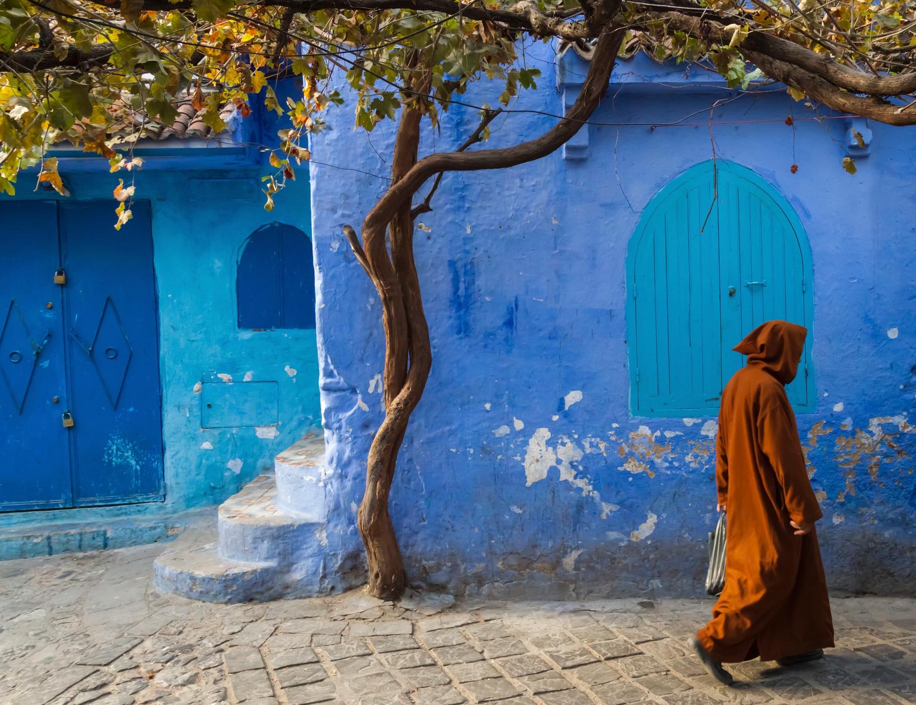 Синий город в Марокко