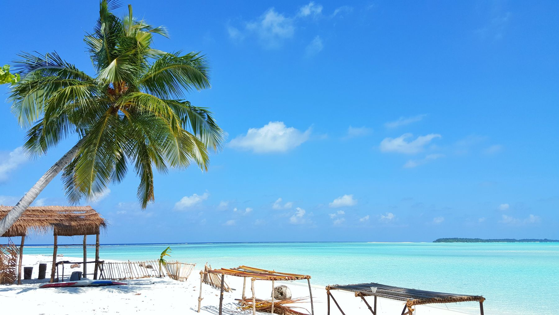 The best beaches in the Maldives have soft white sand and shallow turrquoise waters