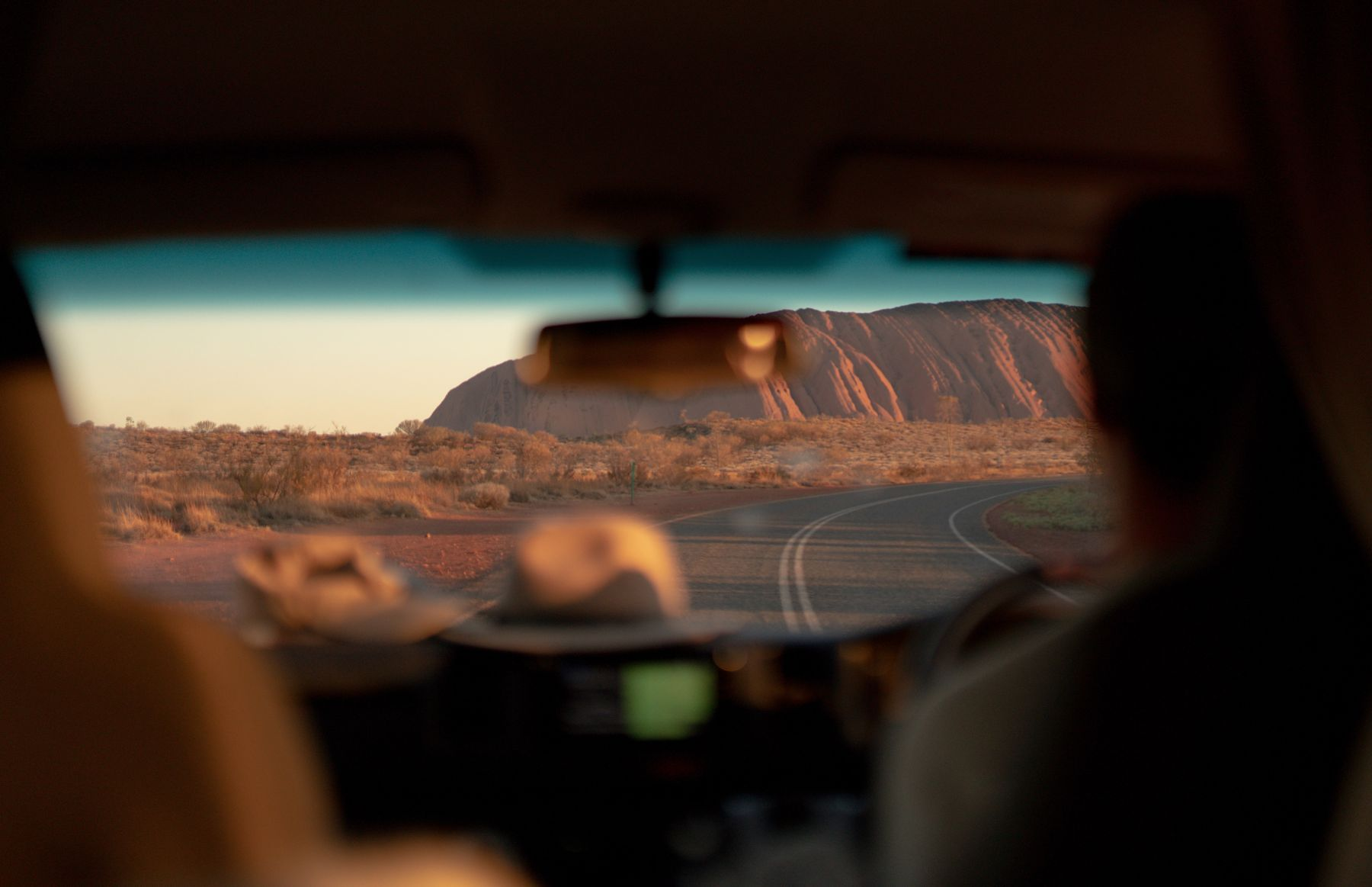 Uluru from car