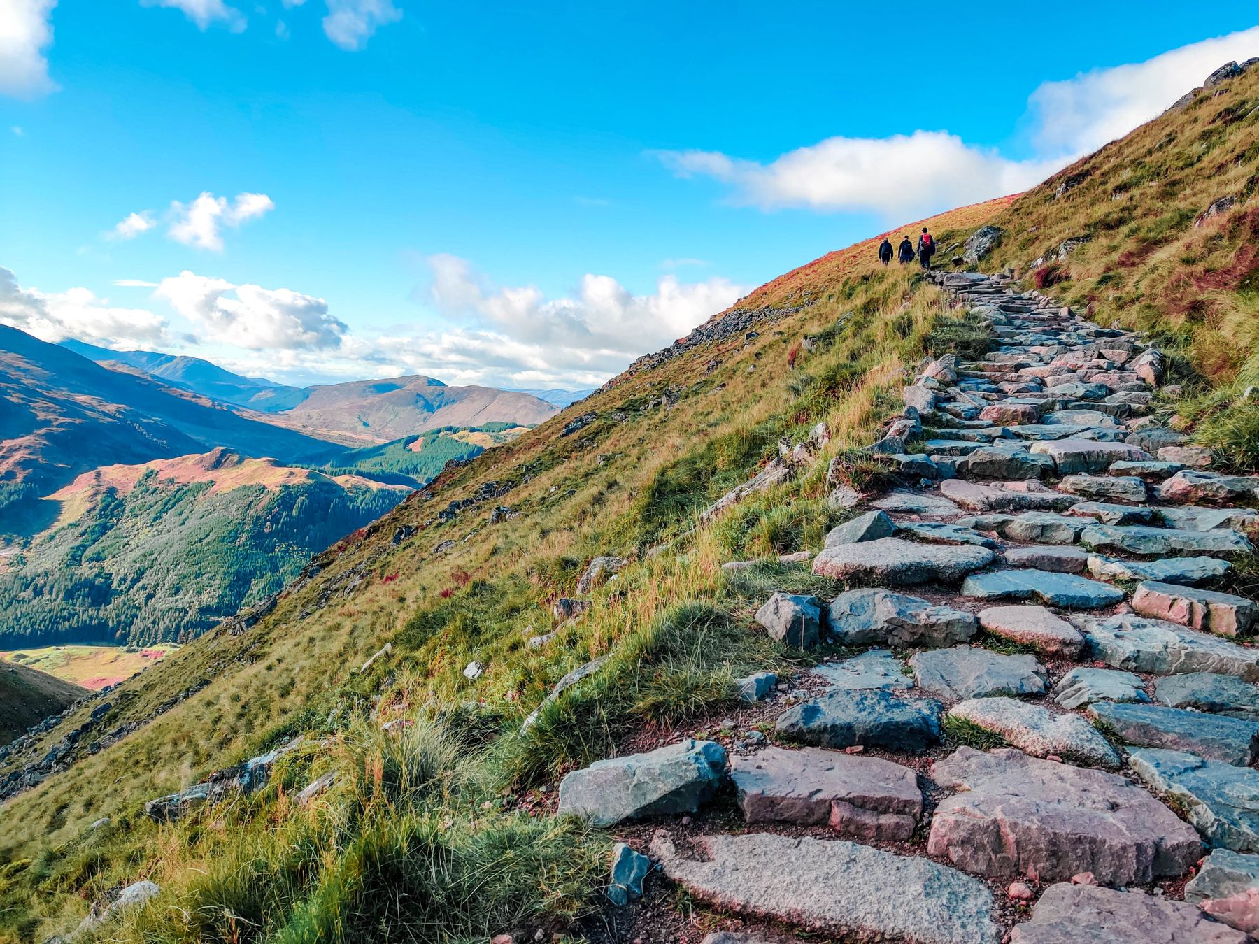 Steps along Ben Nevis hike