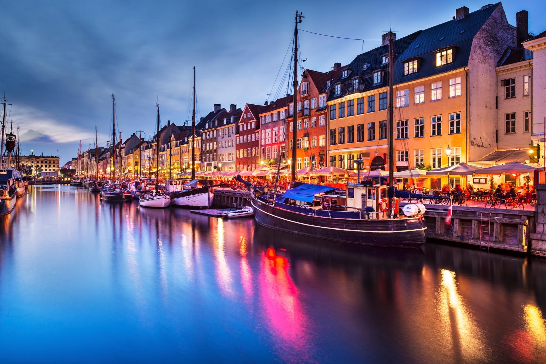 Nyhavn is a beautiful waterfront area in Copenhagen.