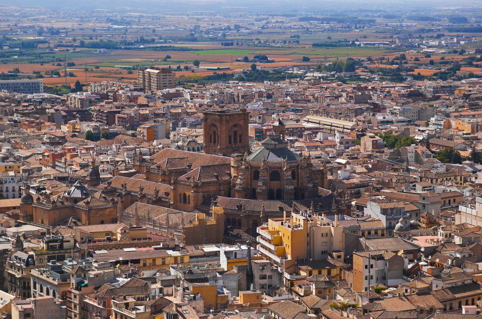 Panoramic view of Granada, Spain - 5 best weekend breaks for students